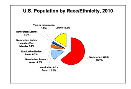 U.S. Population by Race/Ethnicity, 2010